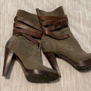 Frye mid rise boot.